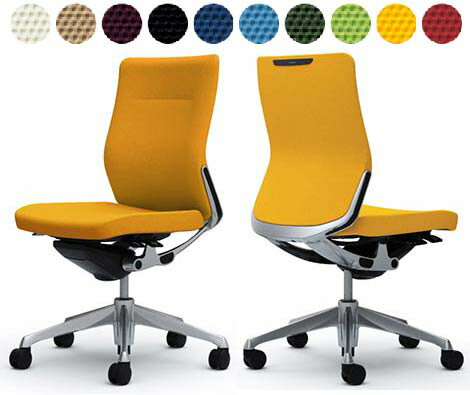 コーラルチェア【クッションタイプ】【ミドルバック】【肘なし】【選べる張地カラー布張り全10色】椅子(コーラルチェアchoral)オフィスチェアパソコンチェアPCチェアOAチェアデスクチェアメッシュチェアオカムラチェアビジネスチェア