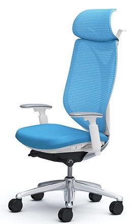 サブリナスタンダード[メッシュチェア][選べる全14色][ホワイトフレーム][エクストラハイバック][可動肘付][ハンガー付き・ランバーサポートなし][選べるキャスタータイプ][事務用回転椅子]