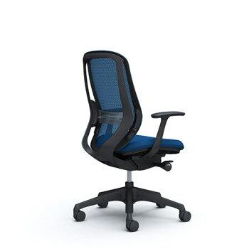 シルフィー[Sylphy]メッシュチェア[選べる全8色][ブラックボディ][ブラック脚][ハイバック][デザインアーム付][ランバーサポート付][4段階固定リクライニング/座スライド付]
