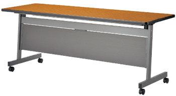LHAはね上げ式テーブルフォールディングテーブル[H700mmタイプ/パネル付][棚付]1500W×450D×700Hmm][天板:選べる全5色][お客様組立]