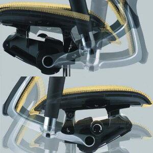 オカムラチェアBaron(バロン)グラデーションサポートメッシュホワイトボディエクストラハイバック可動ヘッドレストシルバーフレームクッション座デザイン肘