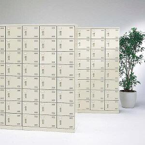 生興SLBシューズボックスコインリターン錠取っ手ニューグレー色3列6段18人用W900×D350×H1800SLB-18-R