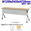 生興 STP型スタックテーブル 直線 棚板付 幕板付 W1200×D450×H720mm STP-1...