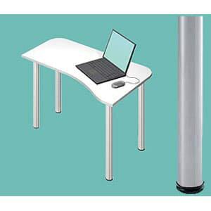 GarageパソコンデスクL型デスクD2D2-H-ST白ホワイト