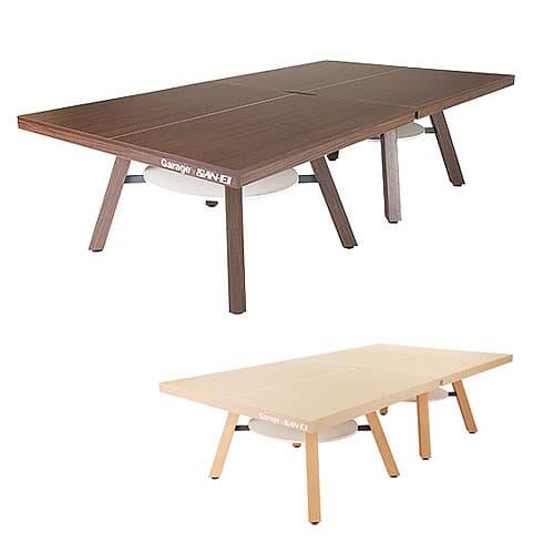 Garage ピンポンワークテーブル PW-1514H 同色2台セット組(卓球台1台) 幅1525mm×奥行き1370mm×高さ760mm×2台【組立設置付】