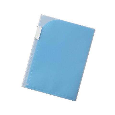 【メール便なら送料240円】リヒトラブ Avanti 4ポケットホルダー F-3411-8青 A4(A3・2ツ折) 収納枚数:コピー用紙30枚