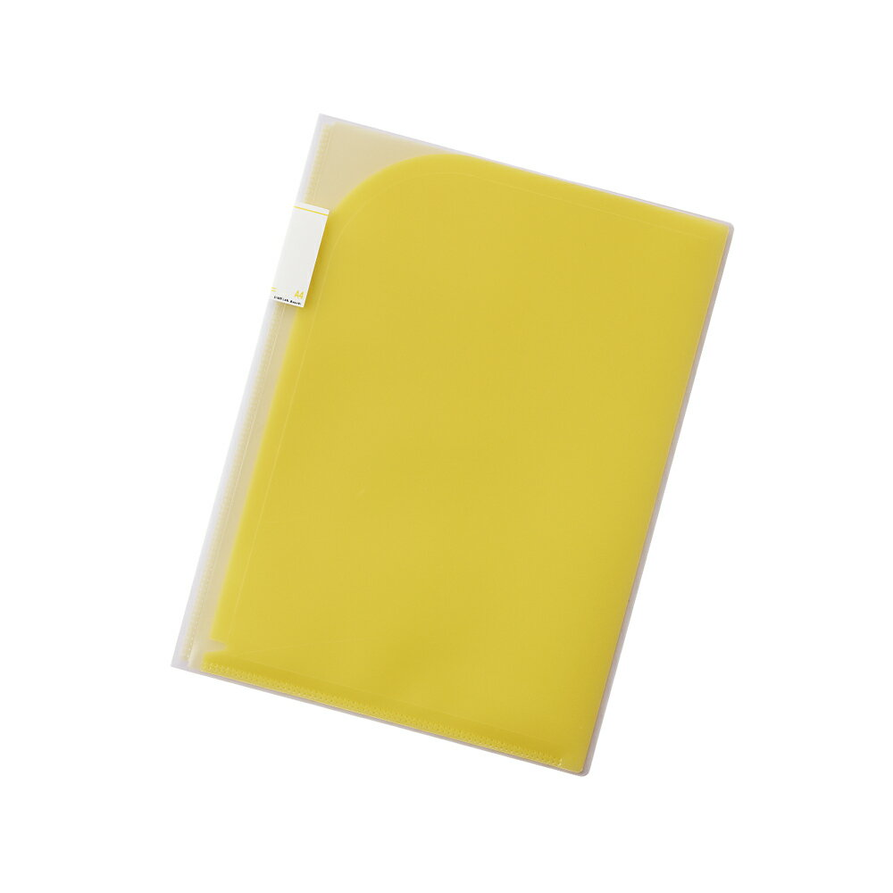 【メール便なら送料240円】リヒトラブ Avanti 4ポケットホルダー F-3411-5黄 A4(A3・2ツ折) 収納枚数:コピー用紙30枚