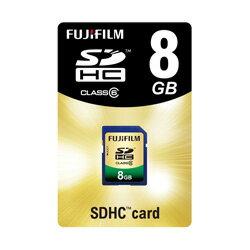 0FUJIFILM<富士フイルム> SDHCカード Class6 8GBF SDHC-008G-C6 【マラソンsep12_九州沖縄...