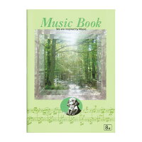 キョクトウ音楽帳ミュージックブックベートーベン8段M581