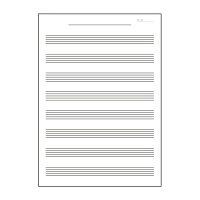 日本ノートキョクトウ音楽帳ミュージックブックベートーベン8段M581