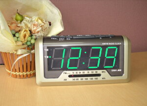 ラジオアラーム搭載で楽しい目覚めを!!★ノア精密 デジタル時計 「タイムラジオス」 T-571CGM★...
