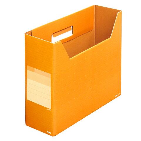 プラス(PLUS)デジャヴ ボックスファイル レギュラー A4-E ネーブルオレンジ FL-023BF 87-624