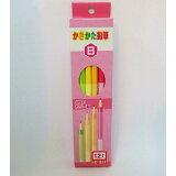 【メール便なら送料120円】サンフレイムジャパン 4色軸のかきかた鉛筆 B 女 ダース 500-2301 500-2301