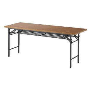 ART折畳テーブル棚付【横幅1800mm/奥行600】1744040