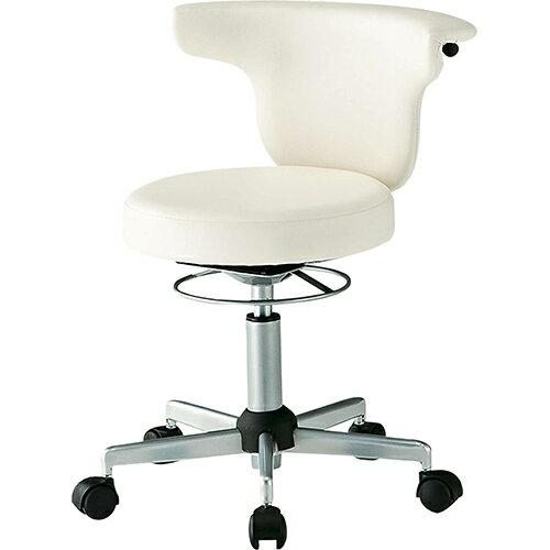 メディカルチェア ACS-700 幅510 奥行545 高さ665-795(座面高さ440-570mm) クリーム ライトブルー TOKIO 回転椅子 作業用椅子 作業用 椅子 イス いす チェア FK-ACS-700