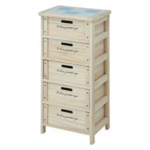 木製ボックス5段幅400奥行300高さ670mmナチュラル不二貿易天然木完成品白収納整理キャビネット木製アンティーク収納棚引き出し収納ボックスFB-68094