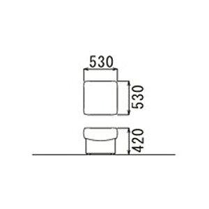 【送料無料】応接用スツール【横幅530mm/高さ420mm】ビニールレザー張り(ブラック)
