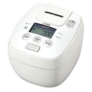 タイガー魔法瓶 圧力IH炊飯ジャー炊きたて (5.5合) 土鍋コーティングホワイト JPB-R100W