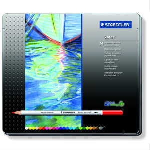 STAEDTLER(ステッドラー) カラト アクェレル 125 水彩色鉛筆 24色セット (4400) 【RCP】