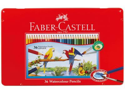 ファーバーカステル水彩色鉛筆(筆付き)36色セット【シャチハタ】 TFC-WCP/36C