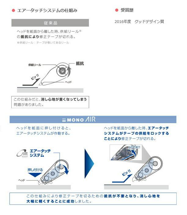 【ゆうパケット対応可】修正テープ モノエアー6 テープ幅:6mm 容量:10m CT-CA6【トンボ鉛筆 Tombow】