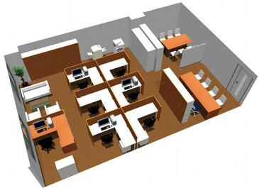 【送料無料】【smtb-TK】【クリエイティブ】SOHO家具パッケージ・80平米(7人用) 図面を広げての作業にも充分な広さのデスク【YDKG-tk】【fsp2124】【fs2gm】【RCP】【fs3gm】