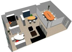 【エグゼクティブ】SOHO家具パッケージ・80平米(3人用) 会議室のある役員室【YDKG-tk】