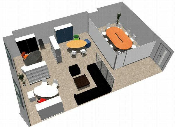 【送料無料】【smtb-TK】【エグゼクティブ】SOHO家具パッケージ・80平米(3人用) 会議室のある役員室【YDKG-tk】【fsp2124】【fs2gm】【RCP】【fs3gm】
