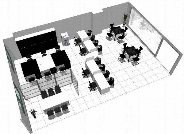 【送料無料】【smtb-TK】【店舗】SOHO家具パッケージ・80平米(6人用) モノトーンのオフィス兼店舗【YDKG-tk】【fsp2124】【fs2gm】【RCP】【fs3gm】