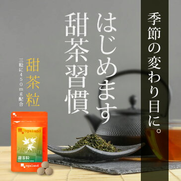 甜茶粒(約3ヶ月分) 送料無料 サプリメント サプリ 甜茶 グアバ葉 シソ葉 柿葉 配合 ポリフェノール ルブサイド 健康茶 【M】 _JH_C4