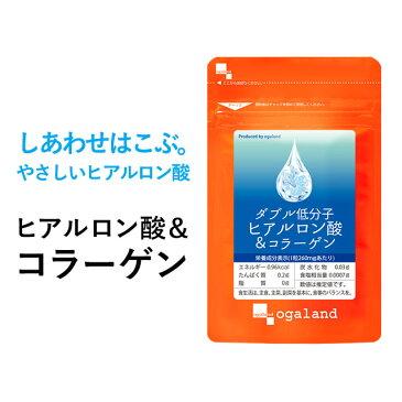 W低分子ヒアルロン酸&コラーゲン(約3ヶ月分)送料無料 サプリ オーガランド 乾燥 する季節に 化粧水 ドリンクよりも手軽_JB_JH