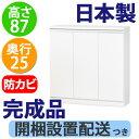 カウンター下収納DX 扉90cm幅(奥行25 高さ87)【薄型キッチン...