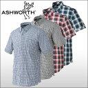 【60%OFF クリアランスセール】 ASHWORTH(アシュワース) 半袖 マドラスチェックカジュアルシャツ
