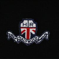 ハリールイド(HALYRUID)ロゴワッペンボタンダウン半袖ポロシャツメンズ