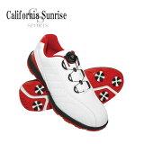 朝日ゴルフ California Sunrize Sports カリフォルニア サンライズ メンズスパイクゴルフシューズ リールフィッティング