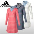 アディダスゴルフ (adidas) JP adicross ウインドウペンチェック レイヤードライク 長袖ドレス レディース
