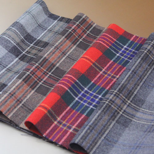ウール【24040】【柄物】【ウール生地】カラー全4色【一反単位の販売】【ウールツイード】24040-20☆ジャケットやスカート パンツに カバン 帽子など小物にも:生地のオガワ
