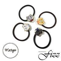 【Margo】刺繍ネコヘアゴム