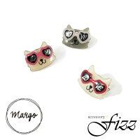 【Margo】猫サングラスLOVEプチブローチ