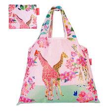 ショッピングバッグ「Giraffe」折りたたみエコバッグ