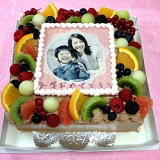 生チョコレートケーキバースデーケーキお誕生日パーティー記念日サプライズ(四角)8号