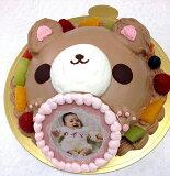写真ケーキスイートベアーくまケーキバースデーケーキお誕生日パーティー記念日サプライズ生チョコレート6号
