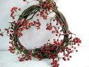 クリスマス限定商品!籐つるに赤い実♪そのままでも飾れる!クリスマスアレンジにも!生け花に...