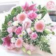 誕生日プレゼント 女性 送別 定年 退職 結婚記念日 結婚祝い ピンク フラワー お見舞い 優しいあなた 花束 【送料無料】