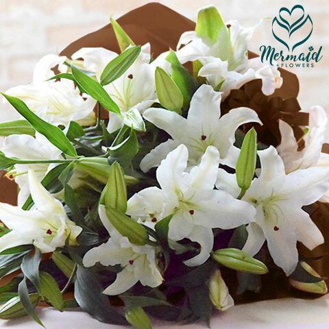 花 母の日 ギフト プレゼント 2020 ギフト 生花 ◆カサブランカ25輪 花束 花 フラワー 送別 退職祝い 卒業 母の日