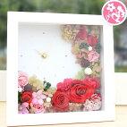 母の日プリザーブドギフト咲き続ける魔法のお花!時計プリザ「ハッピーデイズ」happydays花フラワーギフトプレゼント送料無料