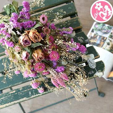 ドライフラワー スワッグ 花 誕生日 送別 定年 退職 結婚祝い リース ハーバリュウム 花材 ユーカリ ミモザ バラ かすみ草 インテリア 壁飾りハロウィン