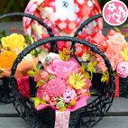 プリザーブドフラワー華やか和風プリザてまり母の日限定送料無料咲き続ける魔法のお花!