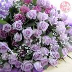パープルローズ70本の花束!キレイなお色のローズです【送料無料】【so-mu0403】