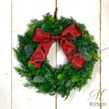 生花リース クリスマス リース フレッシュ[Mサイズ28〜35cm] 【送料無料】【指定日OK】フレッシュナチュラル リース 玄関 ドア飾り プレゼント ドアリース クリスマス Christmas Wreath 【RCP】